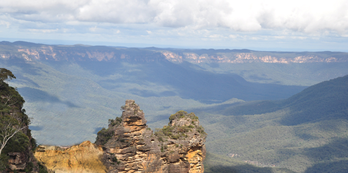 A rockslide has forever altered the Blue Mountains landscape.