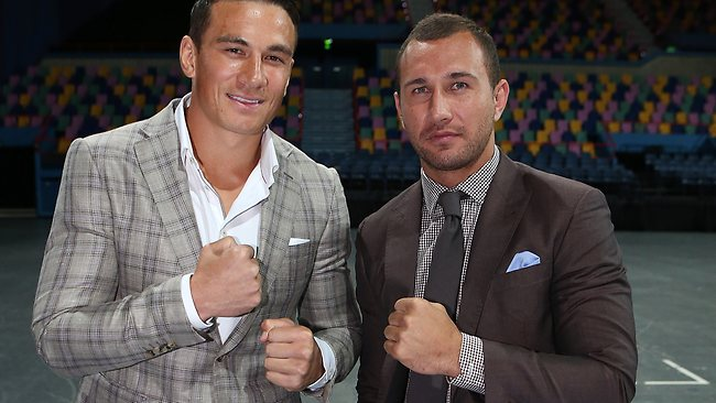 Sonny Bill Williams and Quade Cooper, Rugby players and well known members of Team Mundine.