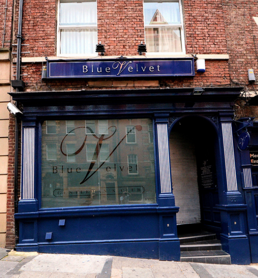 The iconic Newcastle stripclub, Blue Velvet - where many believe the virus may have come from