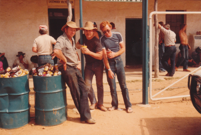 The Betoota Hotel, 1987 LEFT: Clancy Overell, Editor CENTRE: Errol Parker, Editor-at-large RIGHT: Imran Gashkori, Sports Journalist.