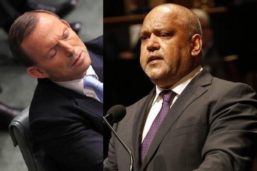 Prime Minister under fire for falling asleep during Noel Pearson's tribute to Gough Whitlam