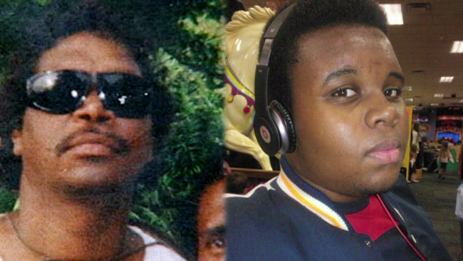 Left: Cameron 'Mulrunji' Doomadgee - a middle-aged Indigenous man killed on Palm Island in 2004. Right: Michael Brown, an eighteen  year old African-American killed in Ferguson this year.