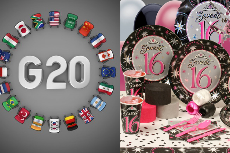 G20 organisers are panicking after a sweet 16th has taken priority.