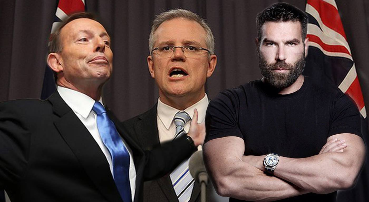 The Australian Prime Minister and Minister for Immigration - Tony Abbott and Scott Morrison are firm on their attempts to keep Bilzerian (right) out of the country