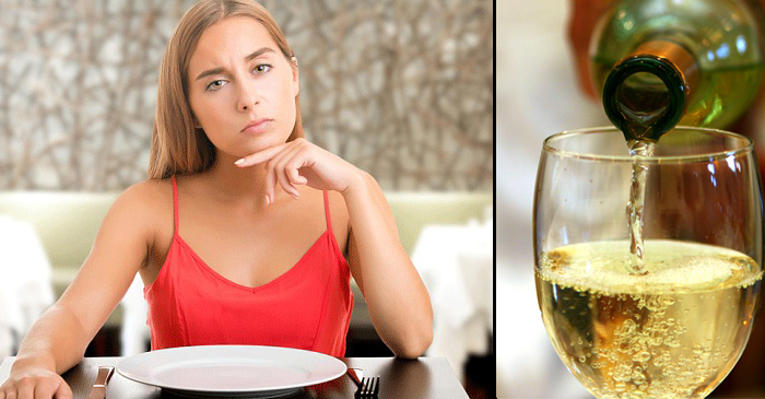 Woman chooses house white after staring at wine list for 20 minutes