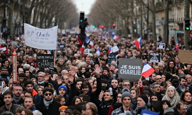#JeSuisCharlie has been tweeted worldwide more than five million times
