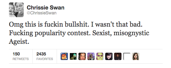 Chrissie Swan claims to be fired for no reason
