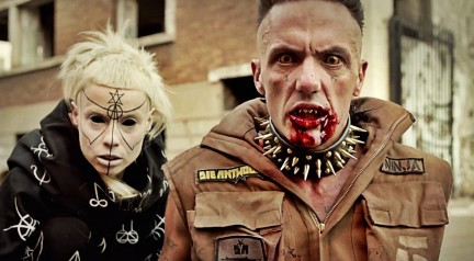 "South African husband/wife outfit, Die Antwoord - the type of ""Indie"" band that Mr Carnegie is taking aim at"