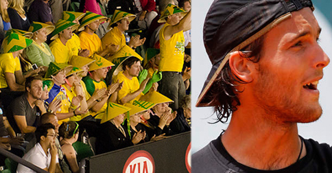"Australian tennis ""Fanatics"" accidentally cheer for 55th-ranked Portuguese player"