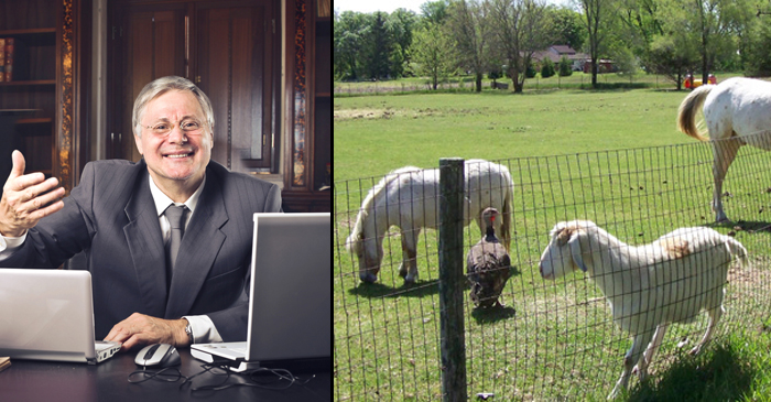 Local Suit Is Seriously Relieved To Hear His 7-Acre Hobby Farm Is No Longer In Drought