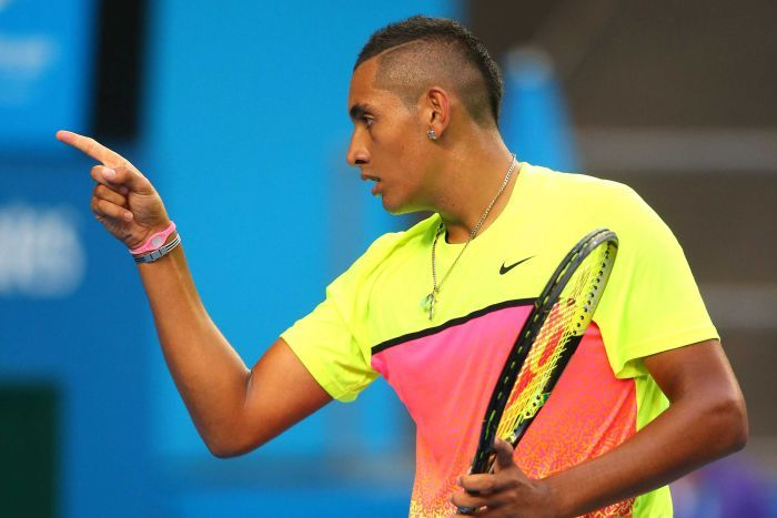 Kyrgios bringing it home against Seppi on Sunday evening