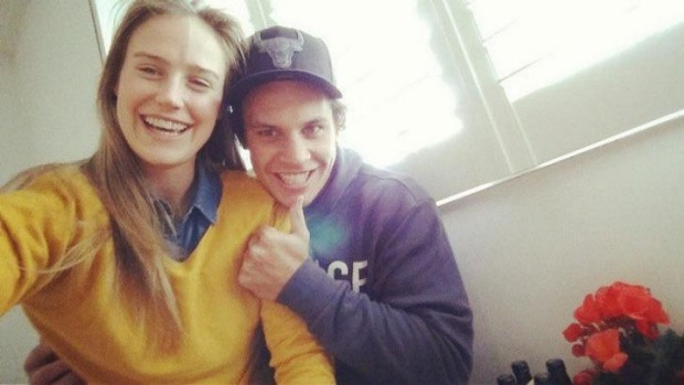 Ellyse Perry and her new fiance, Rugby great, Matt Toomua