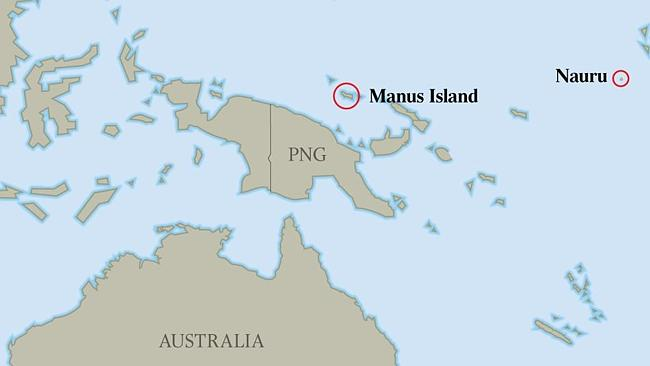 Map Of Nauru And Manus Island