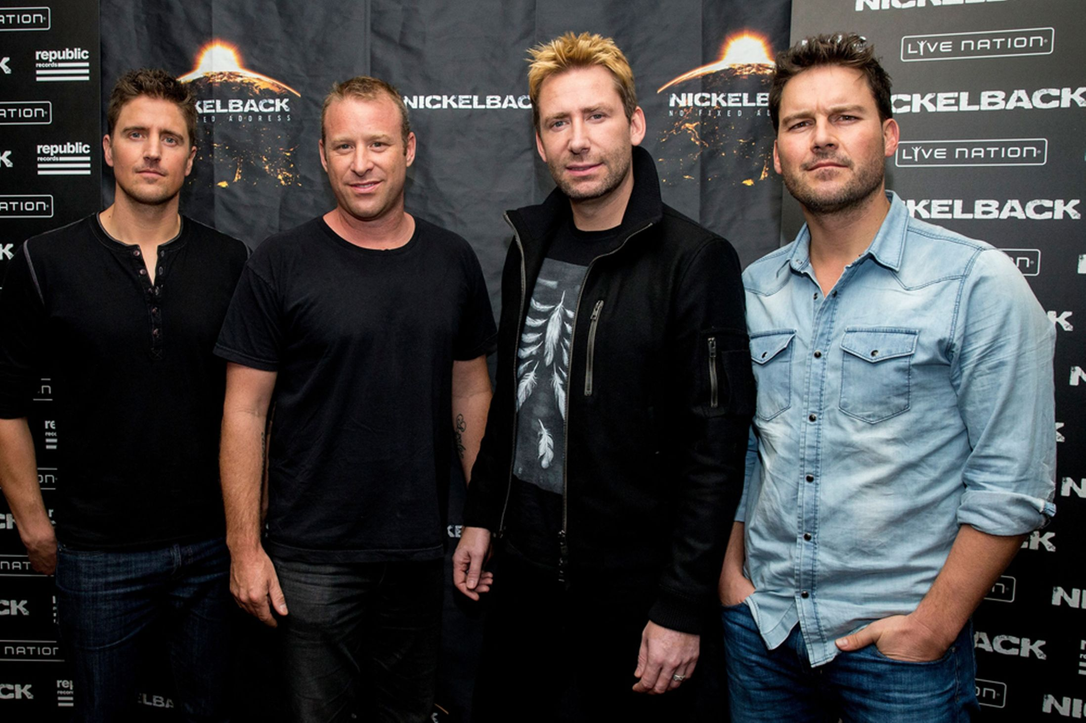 "The members of rock music institution"" Nickelback. Confirmed as cast, band and musical directors for the upcoming Con-air musical"