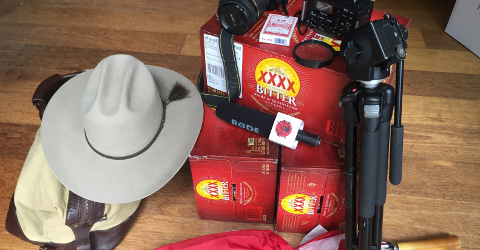 After hearing rumours of a XXXX Bitter shortage in Canberra, Clancy and Errol has left nothing to chance. SOURCE: Darryl Seymour