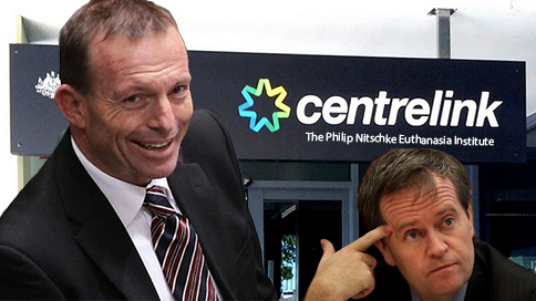 Plans to replace Centrelink with euthanasia clinics gain traction