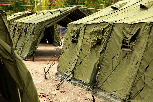 The controversial Manus Island accommodation for asylum seekers has also provided sensational rugby league facilities