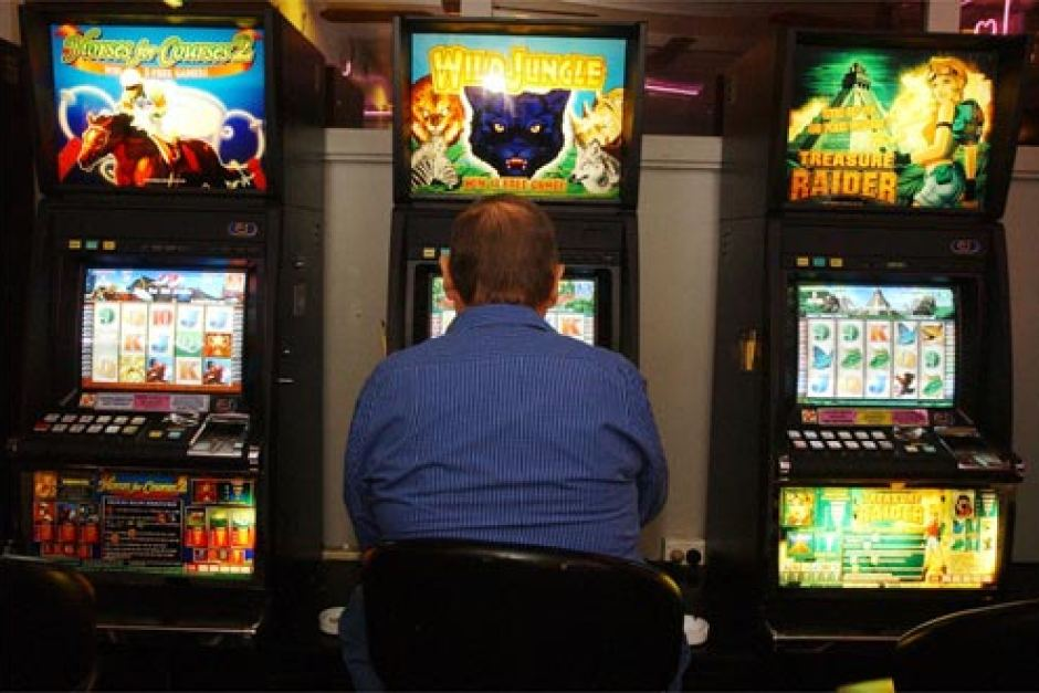 Ted*, a divorced father of four, finds comfort and escape in the oriental-themed pokie machines at his local bowls club
