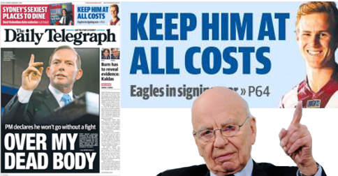 The Daily Telegraph forced to defend itself against support for Tony Abbott allegations