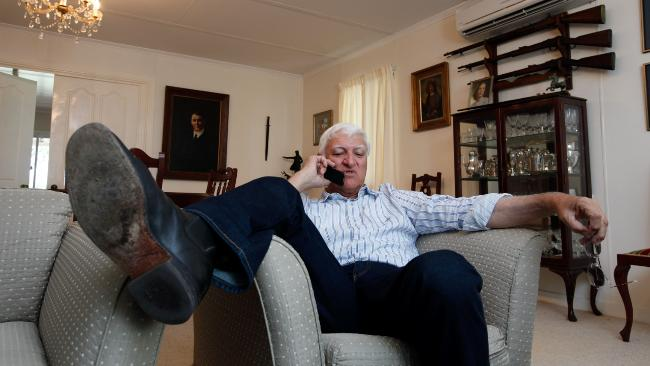 Bob Katter, on the phone with some of his ringer mates from the 'Curry (Cloncurry, QLD)