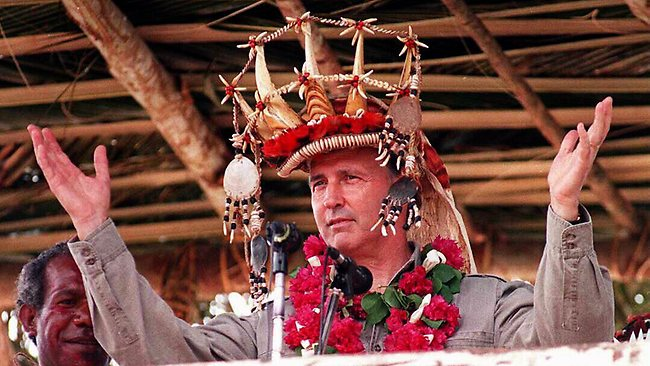 It hasn't rained in Lightning Ridge since Paul Keating stole a traditional headdress from a PNG tribe. SOURCE: Australian Geographic