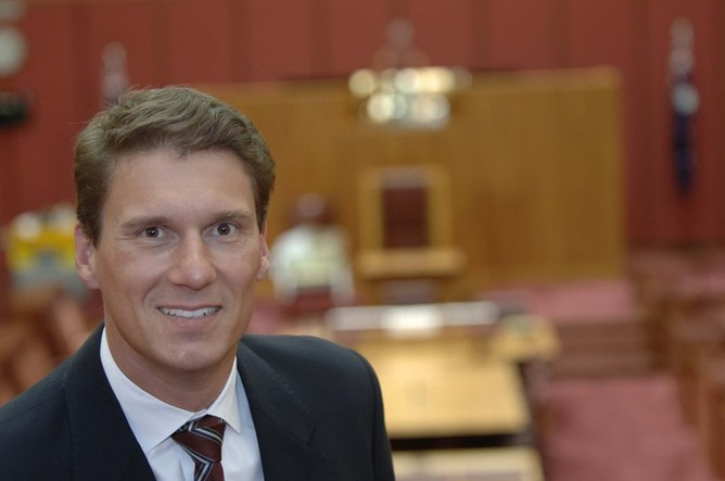 Senator Cory Bernardi also on the Spectrum board in Canberra and counts Chris Pyne as a close friend. PHOTO: APH