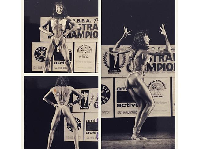 Michelle Bridges, back in the day as a female bodybuilder.