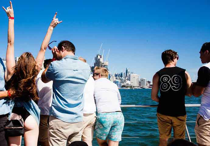 Partygoers are able to let loose on the Harbour Party Cruise. Many only pack one change of clothes.