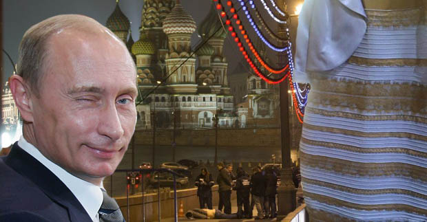 Kremlin allegedly behind #dressgate; distraction from Boris Nemtsov assassination