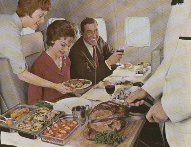 With a full kitchen on board, Palmer's guest won't have to put up with that Neil Perry shit you have to eat on Qantas. PHOTO: trove.gov