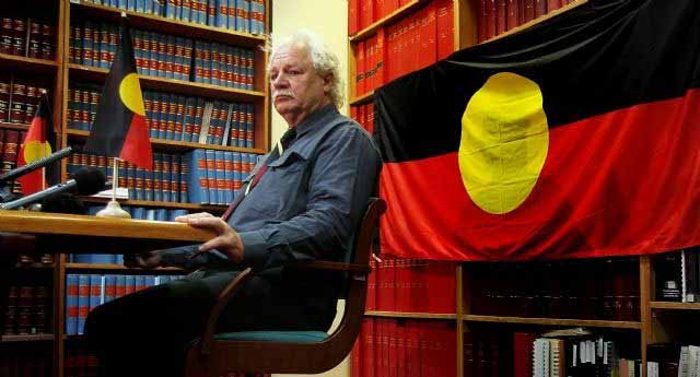 Tasmanian Indigenous leader, Michael Mansell. While he disagrees with a lot Senator Lambie says, they both agree with the Tasmanian Republican Movement