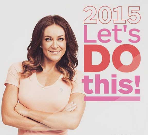 "Michelle Bridges, poses in an inspirational poster for sad women who pay her money in a hope to find the kind of happiness that she has found through bogan reality television shows and unproven ""vitamins"""