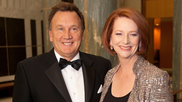 Tim Mathieson (left) and Julia Gillard aren't well remembered in regional Australia. PHOTO: Yahoo!7