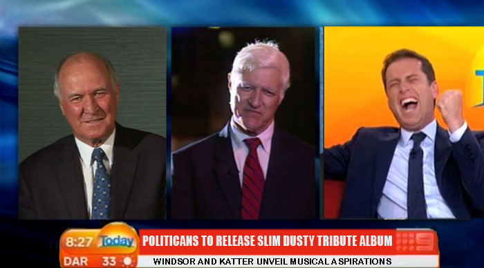 Karl ridicules Bob Katter and Tony Windsor over new Slim Dusty tribute album