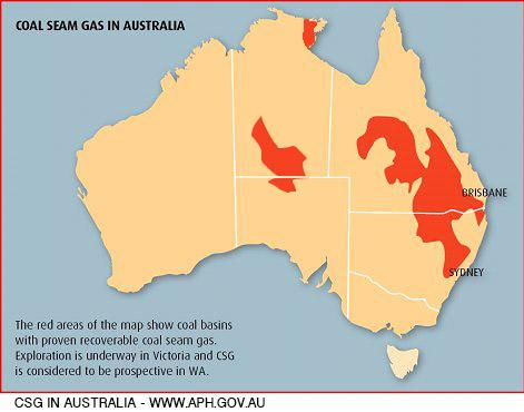 CoalSeamGas map