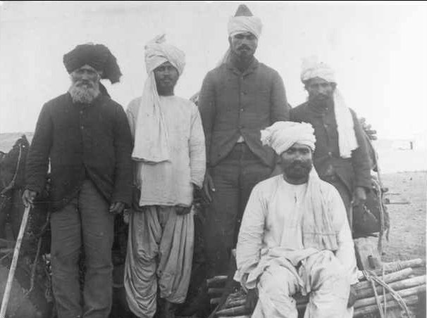 A photo of several Afghan Cameleers in 1890, The Afghani people for instrumental in the settling of Outback Australia