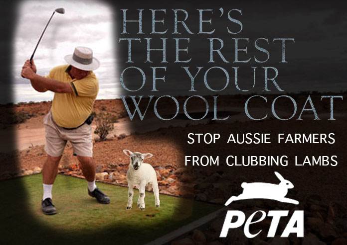 The new campaign poster for PETA's attack on the Australian Wool Industry