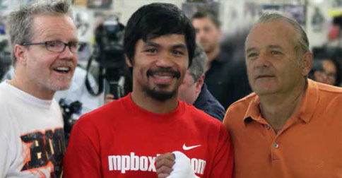Manny Pacquiao Has Asked Bill Murray To Sit In His Corner On May 2nd
