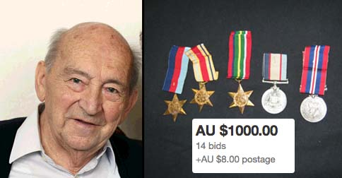 91-Year-Old Aussie Digger Forced To Buy Back His Own Medals On Ebay