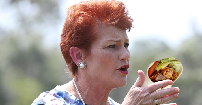 Pauline Hanson Celebrates Only Day Of The Year That She'll Allow Herself A Turkish Kebab