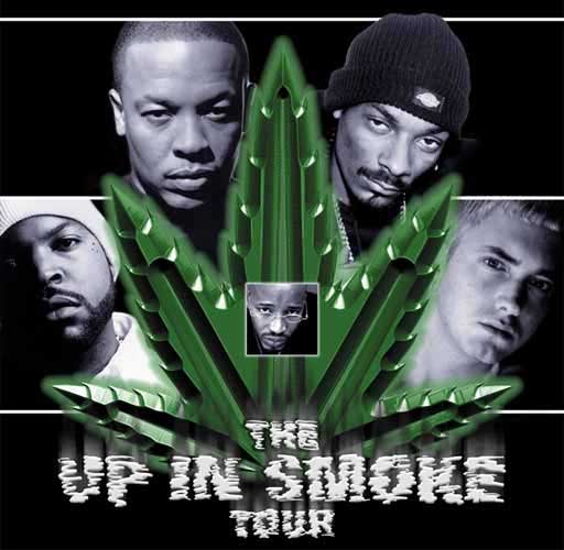 The Up in Smoke Tour was a West Coast hip hop tour in 2000 which was headlined by Dr. Dre & Snoop Dogg. It has reached cult status in stoner subcultures