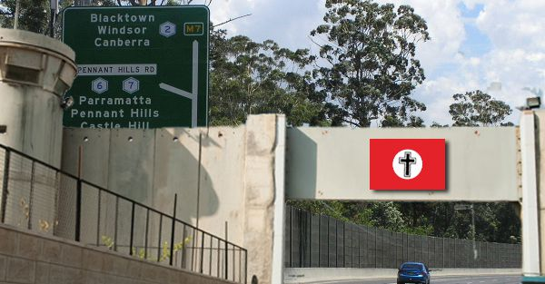 The M2 Checkpoint will stop and search all vehicles entering the West Bank. PHOTO: 9NowNews