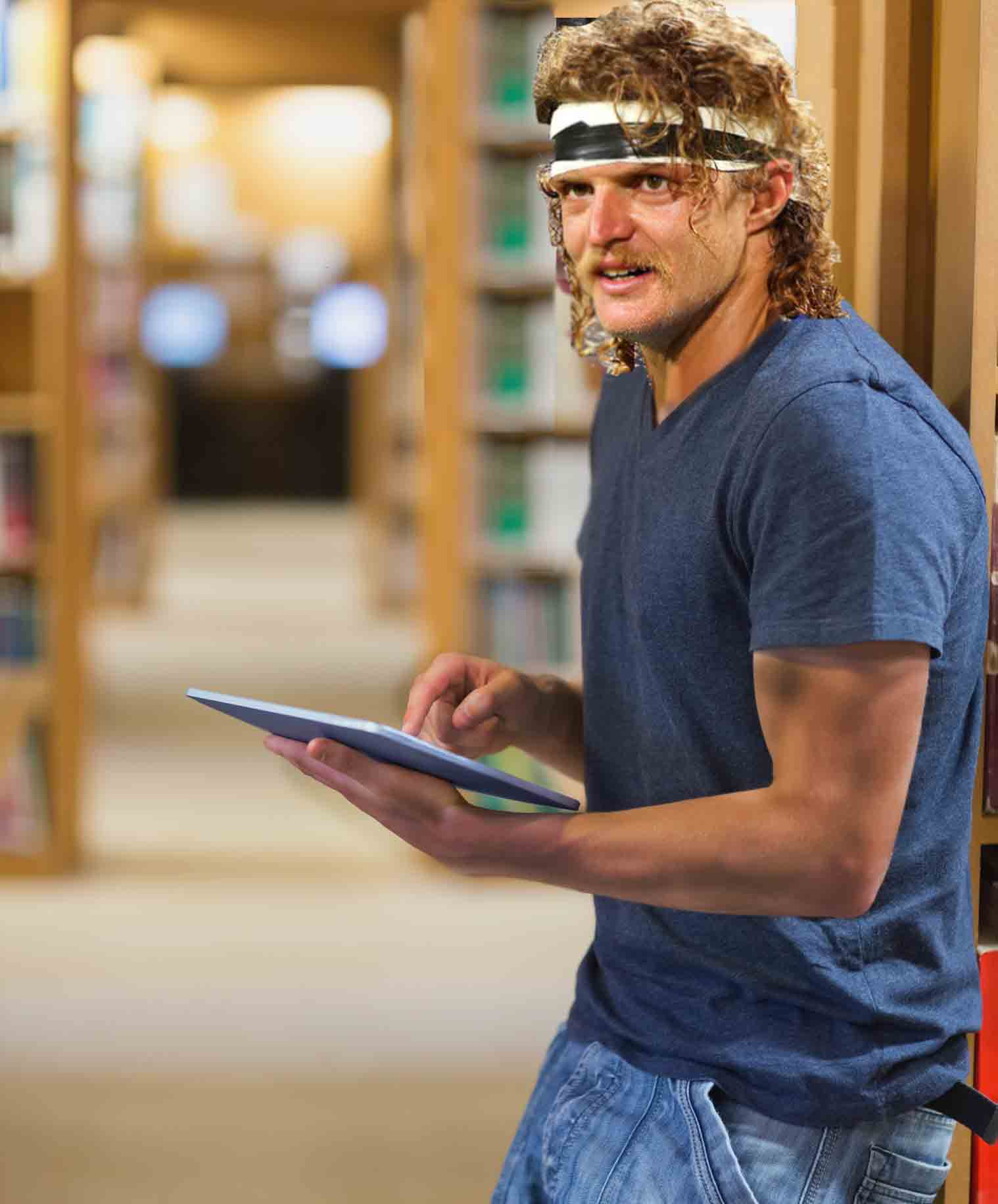 Honey Badger spends hours in the Western Australian library, researching Banjo Paterson and Henry Lawson