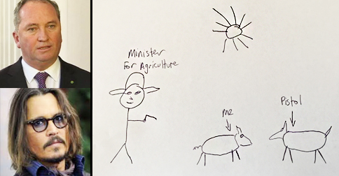 Johnny Depp's Dogs Describe Life In Detention With One Heartbreaking Drawing