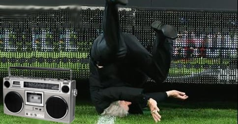 Frank Lowy Celebrates A-League Grand Final With New Breakdancing Moves