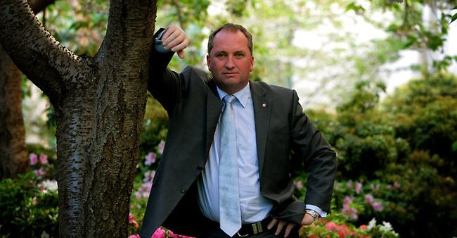 Nationals deputy leader and minister for agriculture Barnaby Joyce has finally come good.  PHOTO: B.Katter/Northern Miner