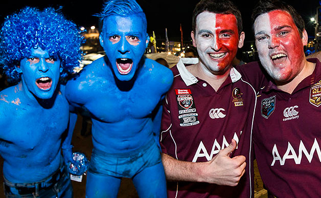 "When it comes to fans, this photo illustrates how Queenslanders are more likely to rock the ""dadbod"""