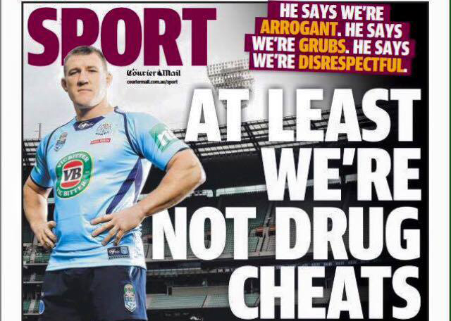 The Queensland Courier Mail responds with class.