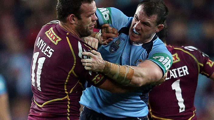 Paul Gallen ruins State Of Origin football with a unexpected coward-punch