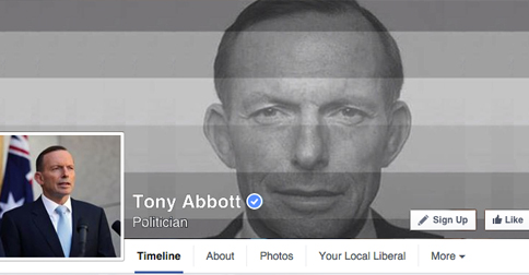 Tony Abbott Makes Fun Of Gay Pride Movement With New Facebook Photo
